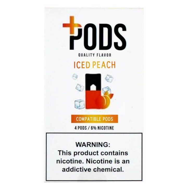 Juul Compatible Plus Pods Ice Peach